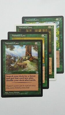 MTG 4x NATURE/'S LORE 5th Edition *Search Forest*