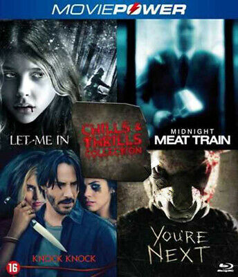 Let Me In, Knock Knock, You're Next, Midnight Meat Train NEW Blu-Ray 4-Disc Set