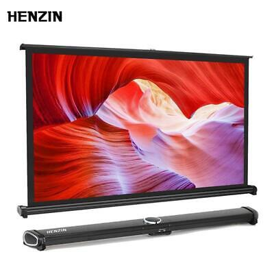 HENZIN Mini Portable 40 inch 16:9 Table Projector Screen HD Matt White Tabletop