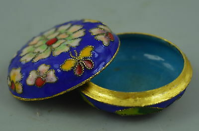 AAA Fine Wonderful Collect Cloisonne Carve Bloomy Flower Rare Ring Rouge Box