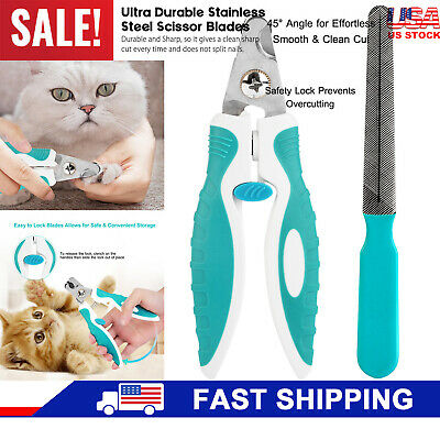 Professional Stainless Steel Trimmer Pet Nail Clippers for Dog Cat Grooming Tool