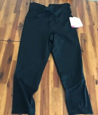 ed70ffd1b5248 Ingrid & Isabel Maternity Active Mesh Capri Pants Crossover Panel Black NWT