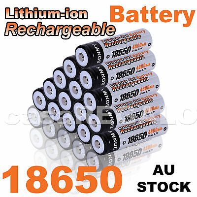 2/ 6/ 10x SDNMY 18650 3.7V Rechargeable Lithium Battery Lithium-ion Batteries