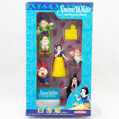 RARE! Disney Snow White and Seven Dwarfs Movie Friends Mini Figure A Set Yutaka