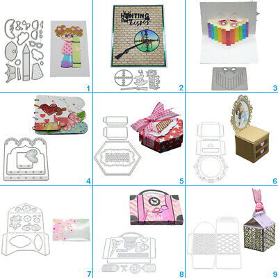 Happy Box Envelope Cutting Dies Metal Stencil DIY Scrapbooking Album Paper Card