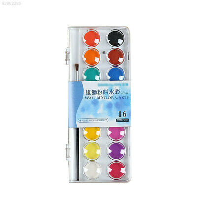 092C Portable Solid Watercolor Paints Powdery Painting Stationery Drawing