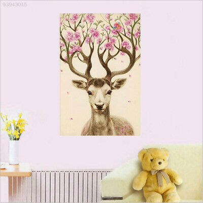 BEE1 New DIY 5D Diamond Painting Sika Deer Embroidery Paint Cross Stitch Home