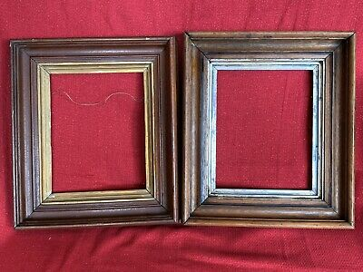 PAIR Matching Antique Victorian Walnut Deep Well Picture Frame