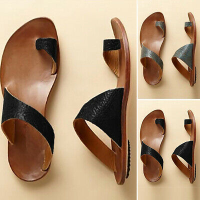 c580fcb462 Toe ring Sandals Shoes Platform Cut out Summer Beach Casual Women PU Leather