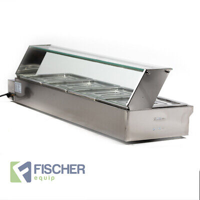 """Brand New"" - S/Steel Hot Display Food Warmer Bain Marie 4 X 1/2 Gn Trays Hsl-4"
