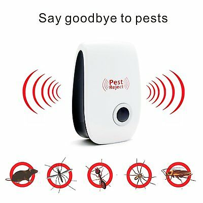 Ultrasonic Pest Repeller Rat Mouse Mice Spider Deterrent Reject Control Rodent