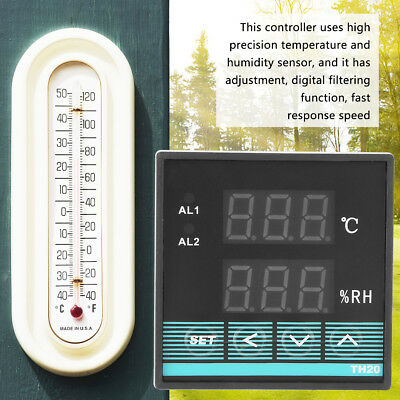 Digital Temperature & Humidity Controller Thermostat with 2 CH Relay Output wt