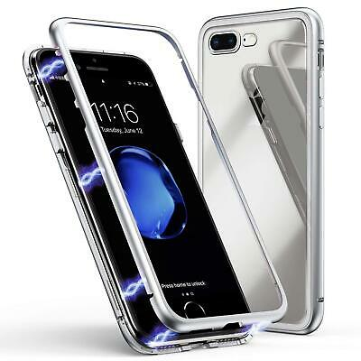Magnetic Metal Frame Tempered Glass Phone Case iPhone XS MAX iPhone XS/X iPhone8
