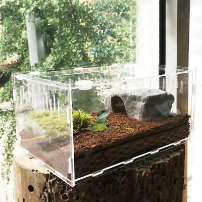 Clear Pet Reptile Tank Insect Spiders Lizard Breeding Box Cage Terrarium House