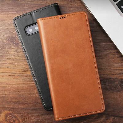 Magnetic Wallet Real Leather Flip Case Stand Cover For Samsung Galaxy S10 E Plus