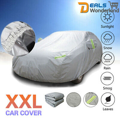 XXL Universal Full Car Cover Waterproof Scratch Proof Breathable UV Protection