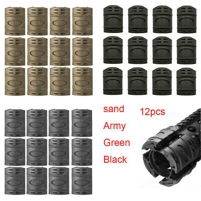 Hunting 12pcs Rubber Covers Handguard Picatinny Rail Protector Fit Airsoft