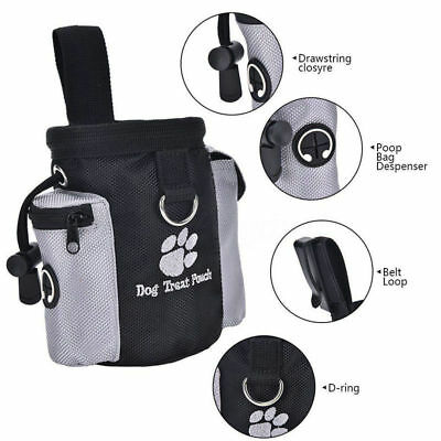 Puppy Pet Dog Training Treat Bag Snack Pouch Storage Holder Dispenser With Clip
