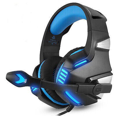 EACH 3.5mm Gaming Headset V1 LED Mic Headphone For PC Laptop PS4 Xbox One 360