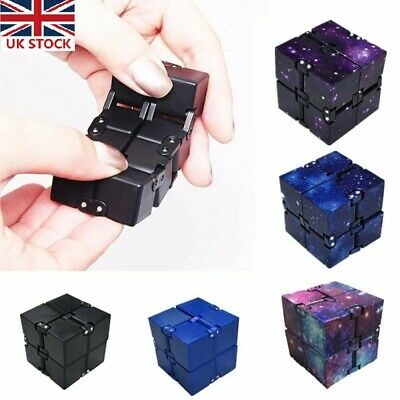 Unlimited Flip Magic Infinity Cube Stress Relieve Fidget Autism Anxiety Relief