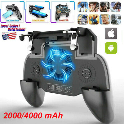 Multifunctional Cell Phone Game Controller Joystick Cooling Fan Gamepad for PUBG