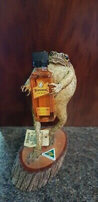 Bundy Rum with standing Stuffed Toad