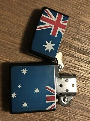 Aussie Flag Flip Top Lighter Kerosene / Zippo Fluid Needed Men Woman Xmas Gift