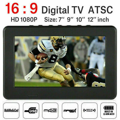Portable 1080P Full HD TV 7-12''Freeview Digital Television Player PVR/USB 12V
