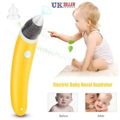 Baby Nasal Aspirator Suction Nose Cleaner Snot Sucker Safe Baby Vac Vacuum UK