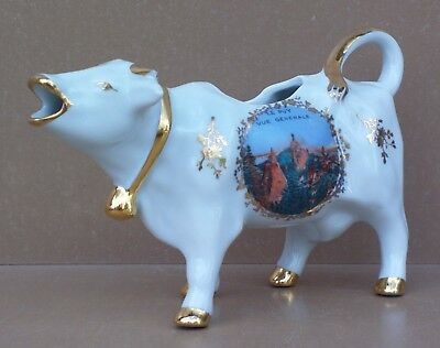 Pot à lait crème VACHE porcelaine de France LE PUY table milk pot cream jak #2
