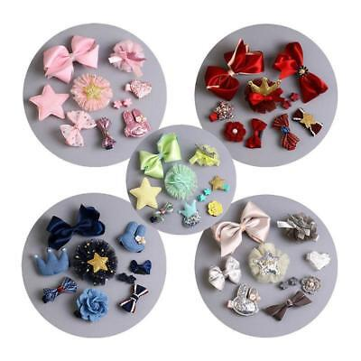 10 Pcs Baby Hair Bands Sweet Bowknot Headbands Hair Ribbons Hairpin RU