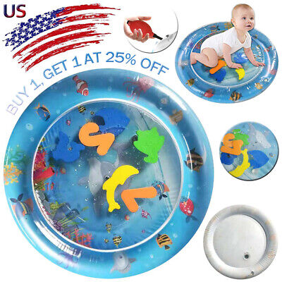 Inflatable Fun Water Play Mat for Kids Baby Children Infants Best Tummy Time US