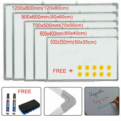 Magnetic Whiteboard Dry Wipe Notice White Board with Pen Office School Home UK