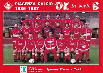 Calcio/Football Cartolina sq. PIACENZA 1986-'87 originale