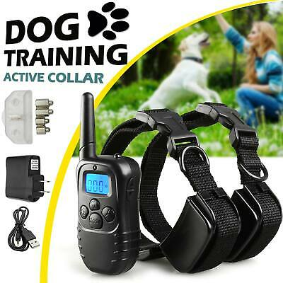 330Yard Electric Remote Dog Training Collar Rechargeable Shock Collar For 2 Dogs