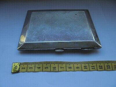 solid silver cigarette case 186gm chester cohen and charles c1930/40s
