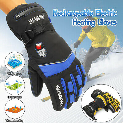 Battery Electric Heated Motorcycle Warm Thermal Gloves Ski Waterproof Outdoor AU