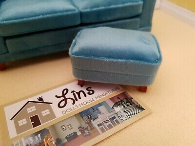 Dolls House Emporium  Miniatures 1//12th Scale Modern Grey Foot stool NEW 9318