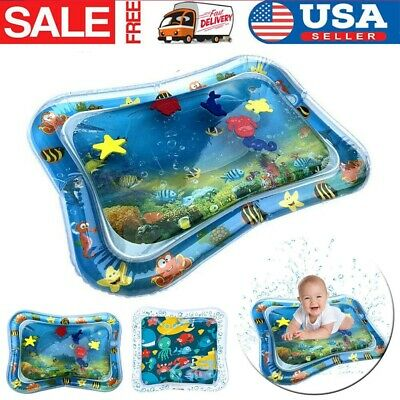 Inflatable Fun Sea Water Play Cartoon Mat for Kids Baby Infants Best Tummy Time