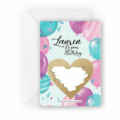 Birthday scratch card gift idea, Personalised surprise reveal card, Custom gift