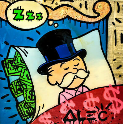"Alec monopoly Handcraft Oil Painting on Canvas,""Sweet Dreams"",24×24IN"