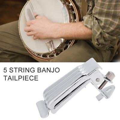 1Pc Banjo Tailpiece for 5 String Banjo Parts Silver Luthier Maker Diy Accessory