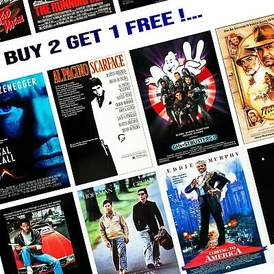 1980's Movie Posters - A5/A4/A3 - Professionally Printed Wall Art - Lot #3
