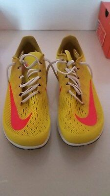 77e3745b2713 Nike Air Zoom Streak LT 4 Citron Crimson Running Shoes 924514-706  9.5