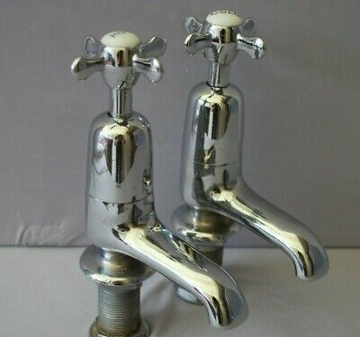 Old  Chrome Bath Taps Reclaimed & Recycled Stunning Old Retro Chrome Taps