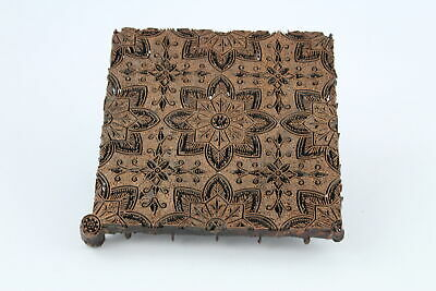 Vintage Antique Iron Copper Indonesian Batik TJAP (Chop) Flower Stamp (1341g)