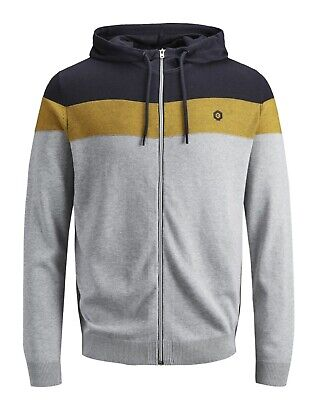 JACK & JONES Ottowa Knit Cardigan Full Zip Tricolore Gold Fusion Oro 12146696
