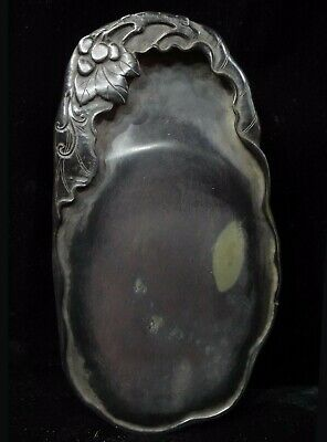 """Antique Chinese Hand Carved """"Duan"""" Calligraphy Ink Stone Marked """"MaoGeng"""" CK523"""