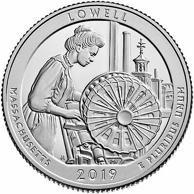 2019 S Lowell National Historic Park Clad Proof Quarter - In Hand