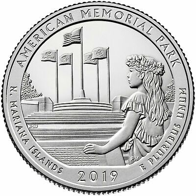 2019 S American Memorial Park Northern Mariana Islands Clad Proof Quarter